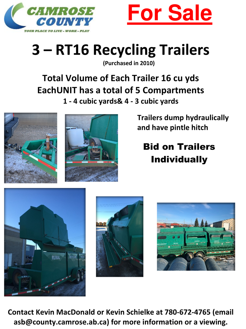 For Sale Recycling trailers